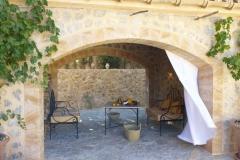 Schattenplatz am Haus, Mallorca